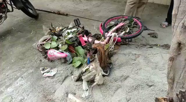 #Hyderabad: Civic authorities search for a girl who reportedly went missing at Neeredmet. The class 5 student was last seen on her cycle which was recovered during the searches. The family has alleged that she could have fallen into the drain. More details awaited.