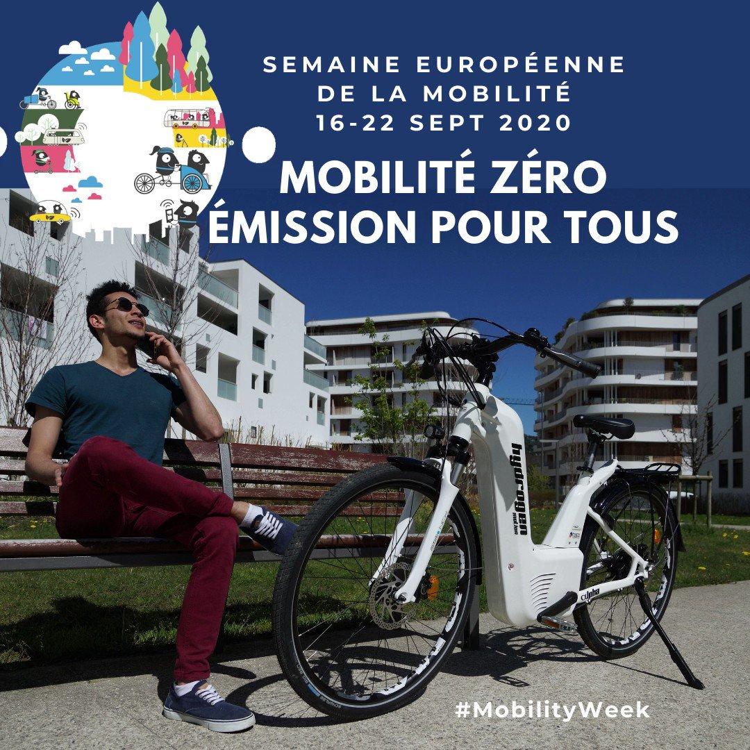 Thématique 2020 de la Semaine de la #Mobilité #Européenne ➡️ Mobilité zéro émission pour tous. Objectif inciter les citoyens et les collectivités  à choisir des modes de déplacements plus respectueux de l'#environnement.   https://t.co/ep02ycVK8p @mobilityweek #hydrogen #h2bike