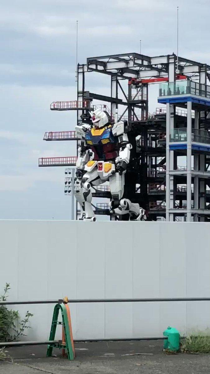 横浜ガンダム見てきた✨会社の近くだった💦