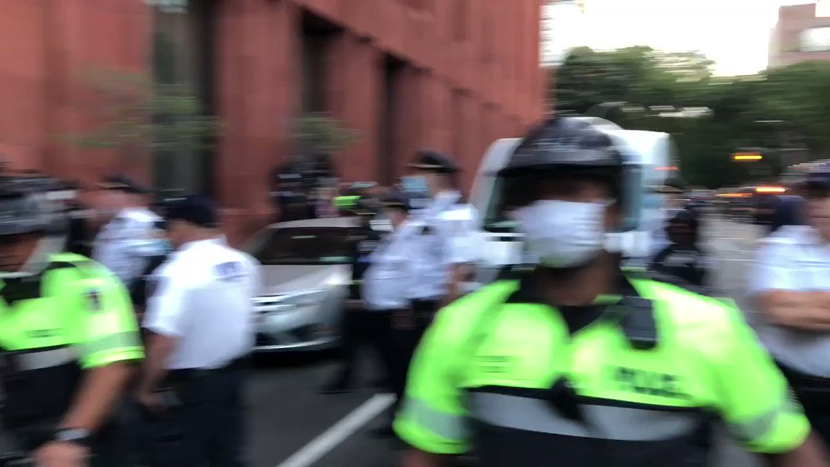 NYPD escalating against protesters on the South side in Washington Square Park.