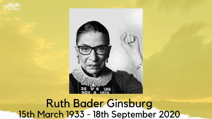 An ode to the #NotoriousRBG , our Auntie Ruth!✊🏿✊🏾✊🏽✊🏼✊🏻 [check out the full video on our Instagram and Facebook page] - #RGB #RuthBaderGinsburg