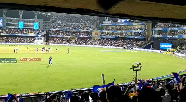 Though I am super excited for #IPL2020, but what I miss is roaring for #MI from the stands.  #MIvsCSK has always been a stellar game and today is that day.  Go @mipaltan go 🏏 https://t.co/w3L49jJILx