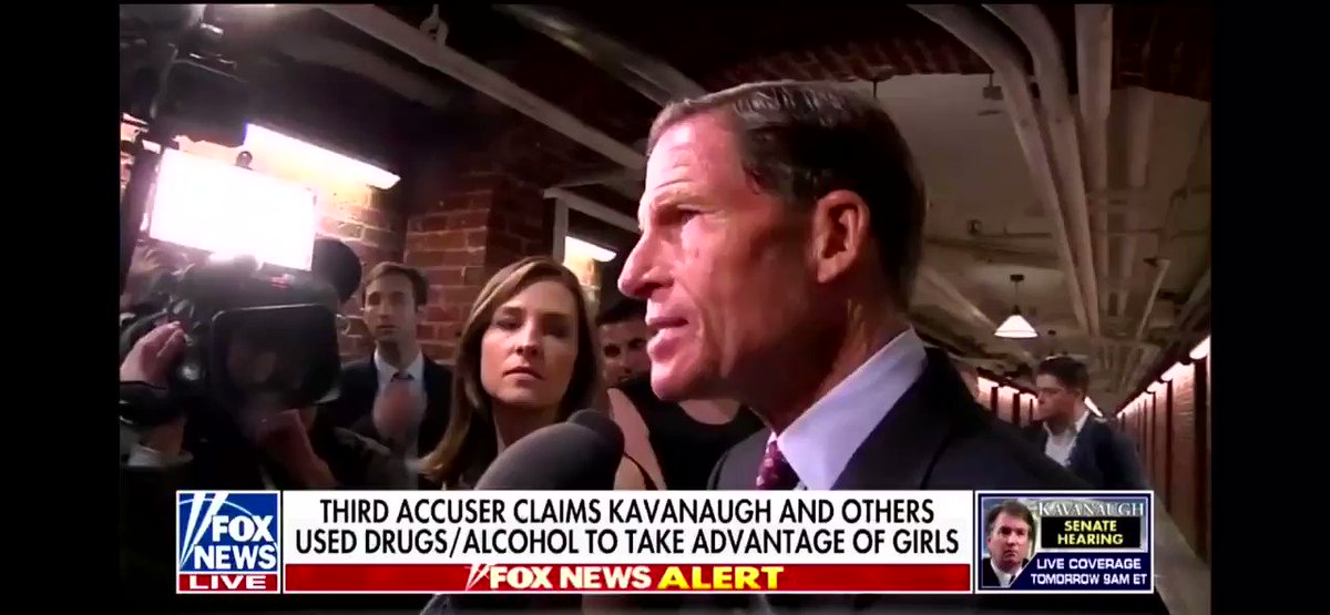 Blumenthal signed a letter that Brett Kavanaughs confirmation must be stopped because of serial gang rape accusations from Michael Avenatti and Julie Swetnick. So maybe his thoughts on whats legitimate shouldnt be treated as serious. twitter.com/SenBlumenthal/…