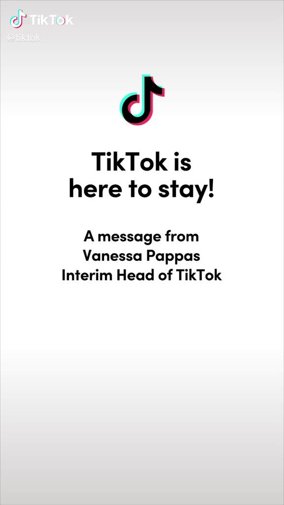 TikTok update. Looks like they are not going anywhere after all. #TikTok 👍🏻 https://t.co/0lG70xA6tX