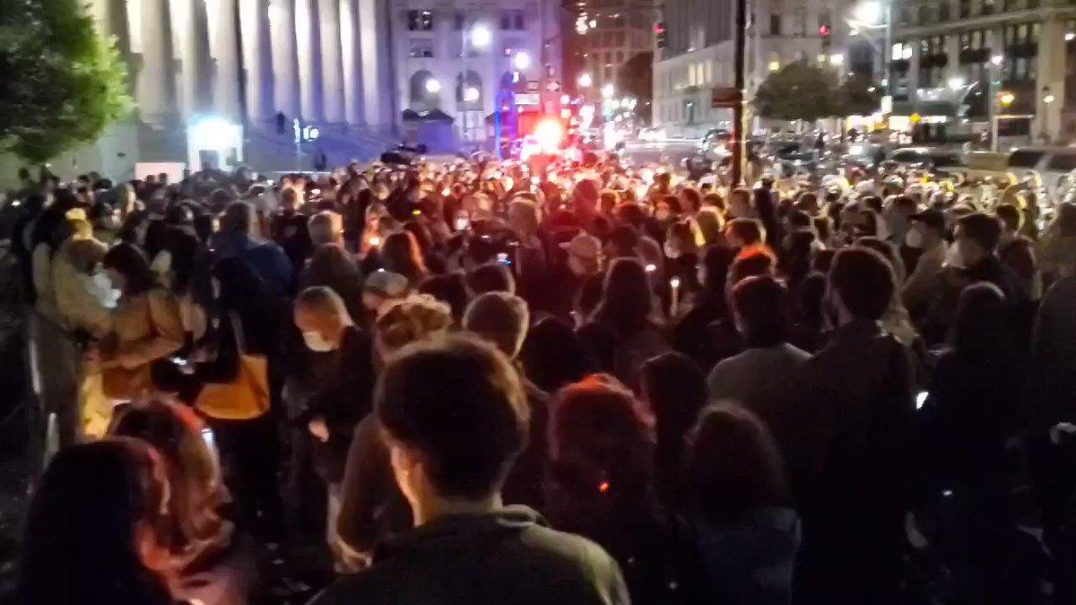 Foley Square is lit up for #RBGRIP.