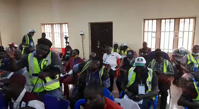 #EdoDecides2020 Cross-section of Journalists, observers waiting patiently for the results from remaining five local governments. #ThePeoplesTelly #newmedia @EdoStateGovt @EdoStateAPC @_iniedo #EdoDecides2020 #EdoIsPDP #Edo2020 #ogtv #Election2020