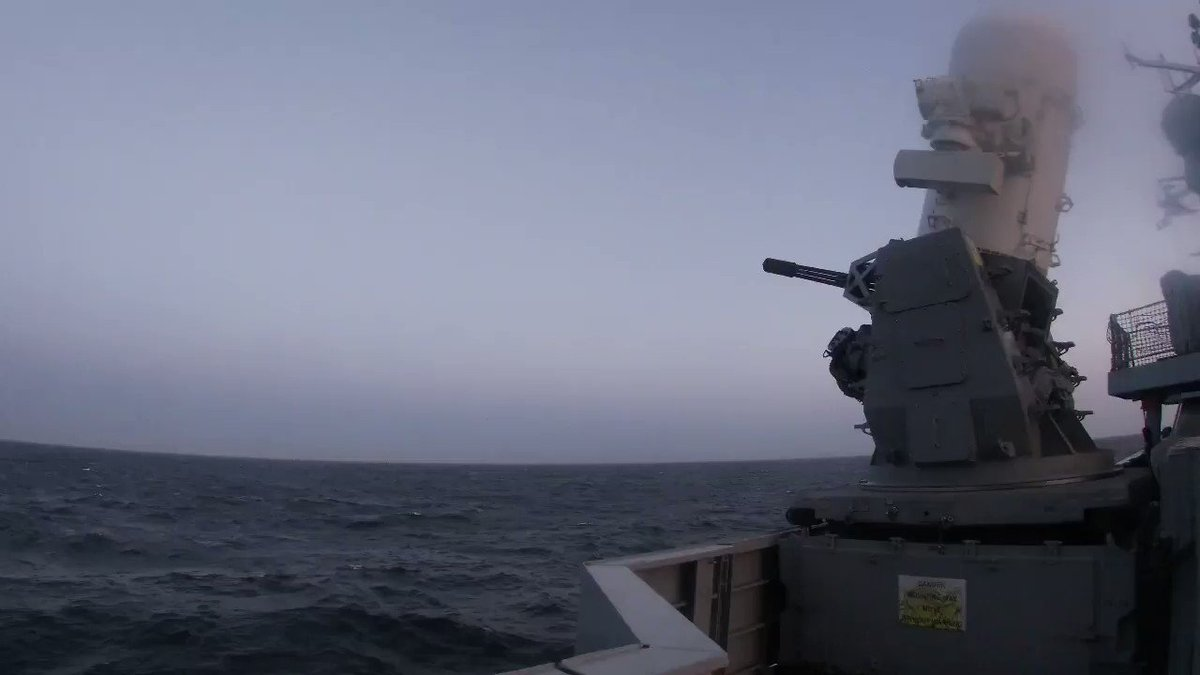Dragon conducting a Phalanx Calibration to ensure full capability ahead of joining the rest of the Task Group #LRGX