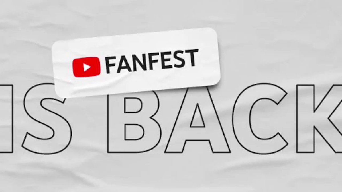 AND THERE YOU HAVE IT 🙌 Are you ready for your first virtual YouTube FanFest? #YTFF2020