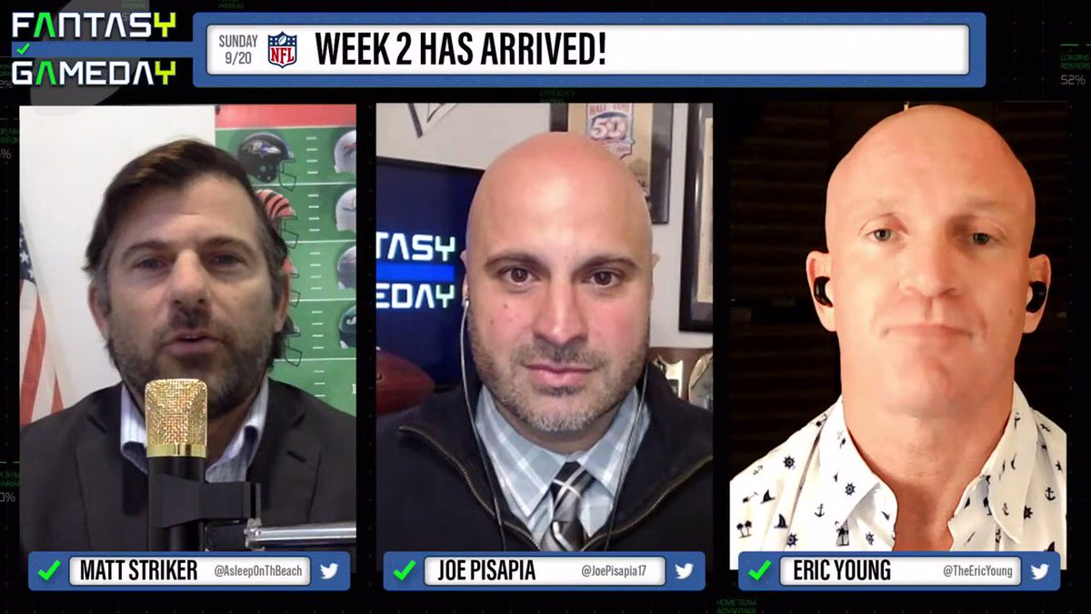 #ICYMI @AsleepOnThBeach @JoePisapia17 and @TheEricYoung tell you why Derrick Henry needs to be in your #fantasyfootball lineup this week and every week on #FantasyGameday!  See all clips and the full episode on this playlist: https://t.co/cFbFAzJD19 https://t.co/djFAL5pFLF