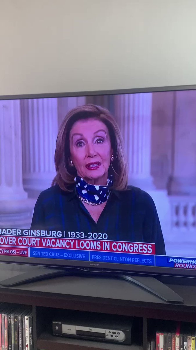 Nancy Pelosi is either reading a teleprompter or she is a goofy old lady in cognitive decline, or both