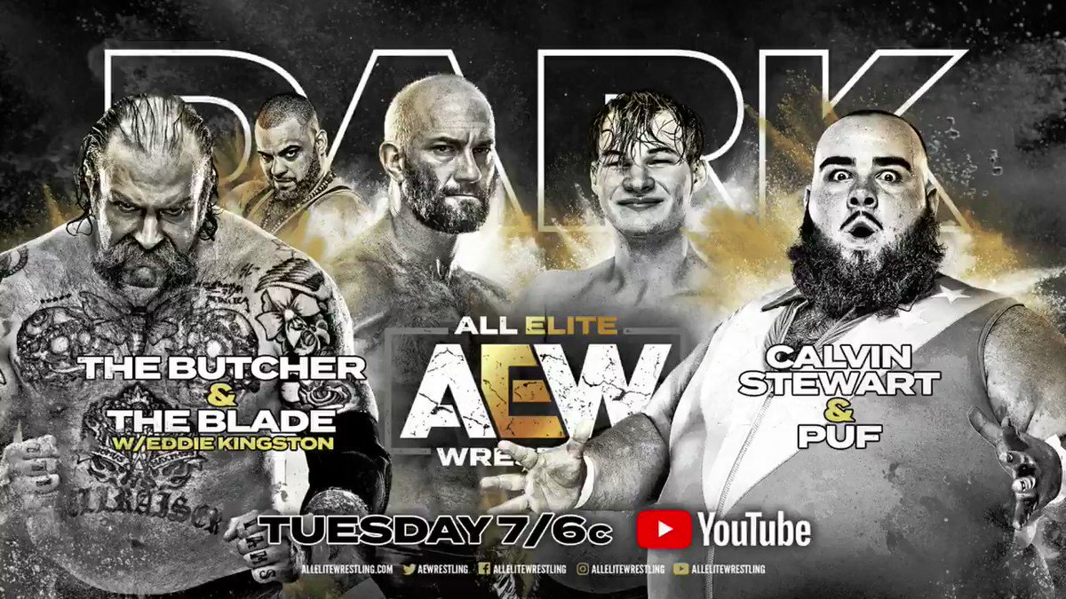 We have ELEVEN stacked matches for you this Tuesday on Dark! Watch #AEWDark at 7e/6c via our YouTube channel at youtube.com/allelitewrestl…