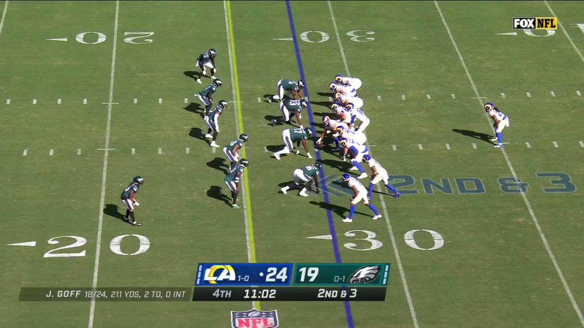 ¡Los Rams siguen anotando! 🔥 Un pase de Goff ➡️🏈 Tyler Higbee para 28 yds #NFLEspañol #LARvsPHI #RamsHouse