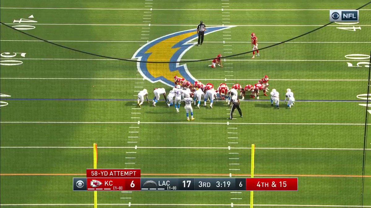 Butker con el cañón en el pie pone 3 puntos con el FG de 58 yardas 😱🔥 #NFLEspañol #ChiefsKingdom