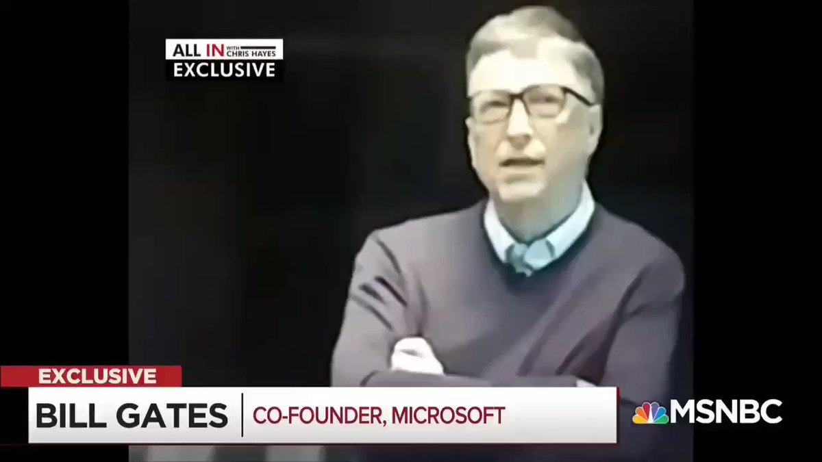 Image for the Tweet beginning: Bill Gates saying to Trump