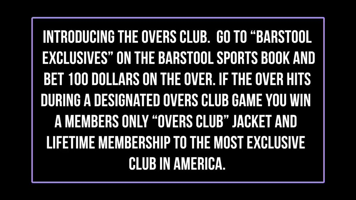 Introducing.....The Overs Club. @BSSportsbook