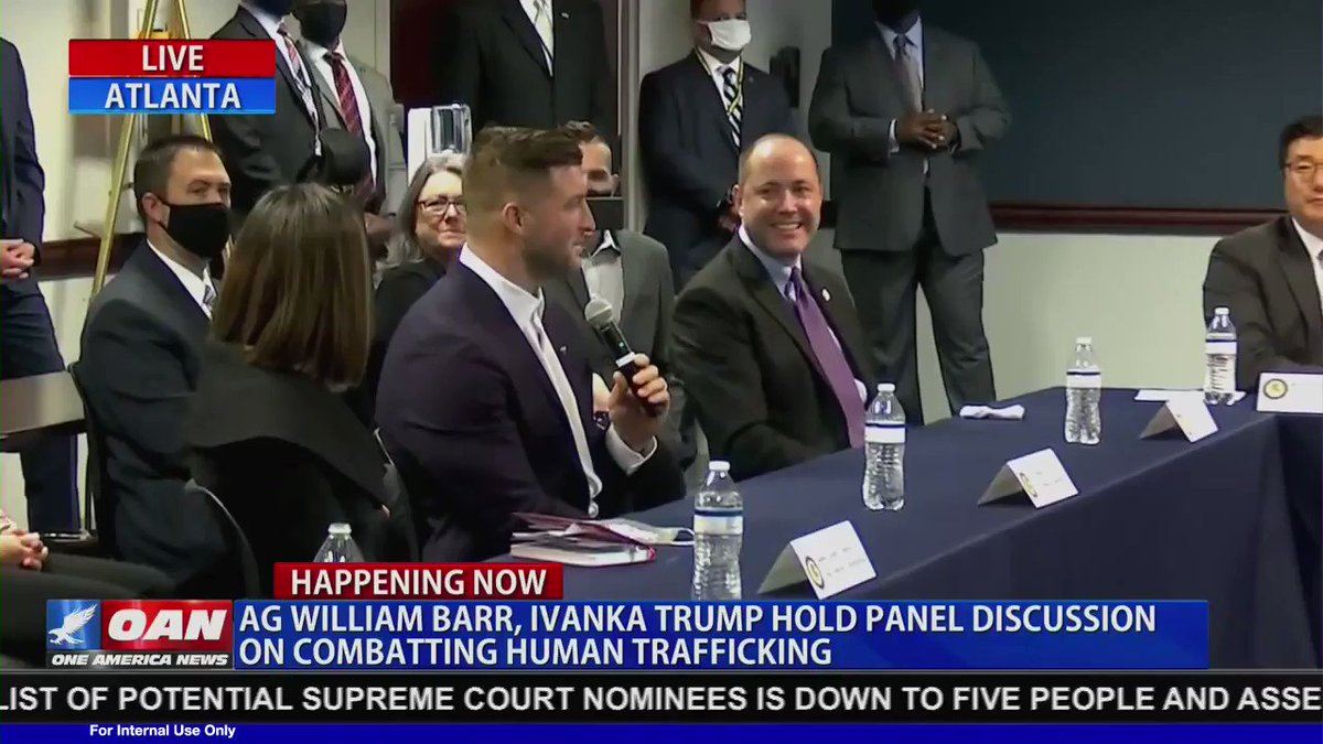 POWERFUL! @TimTebow talks about his personal passion about fighting the evil of human trafficking at an event with @IvankaTrump and Attorney General Barr.   If you do anything today, take a listen. https://t.co/XvjmX52HyF