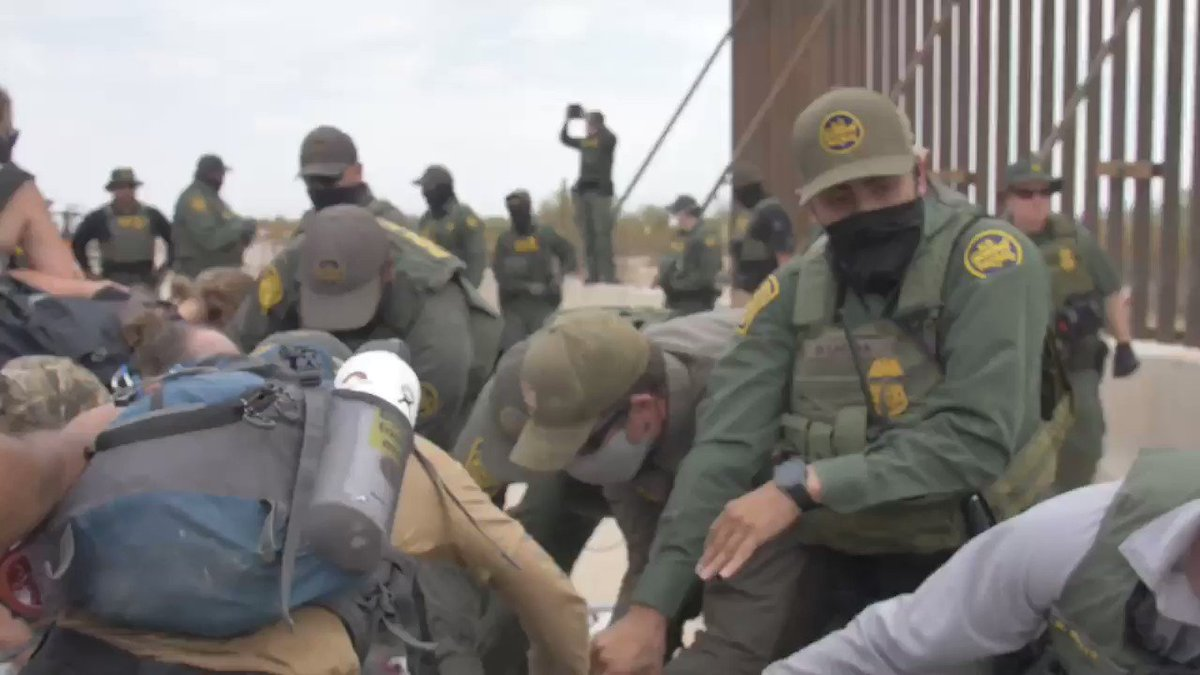 'You don't control the border': Indigenous groups protesting wall construction clash with federal agents