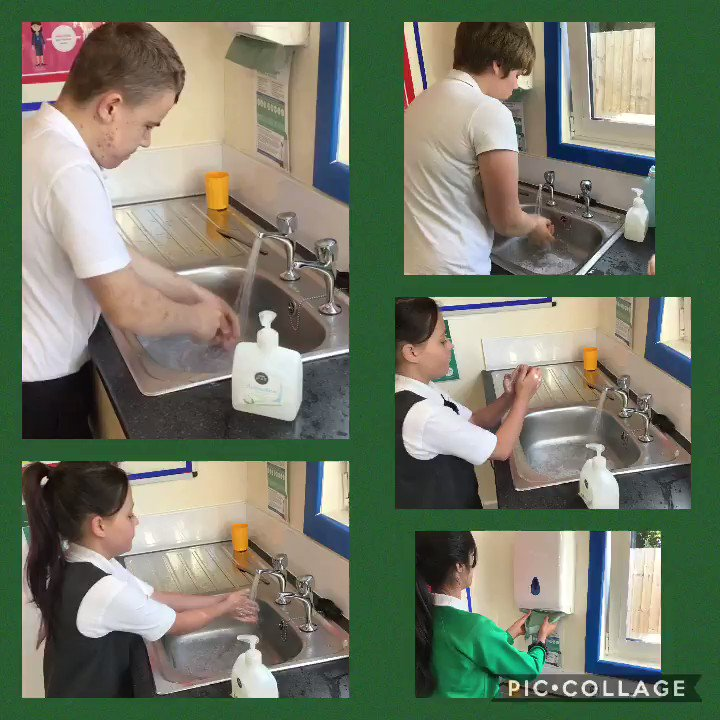 Washing our hands before we start the day 💧 #keepwashingyourhands