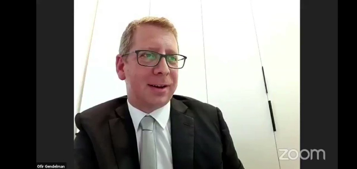 @ofirgendelman,spokesperson to the Arab media in theIsraeli PM's Office,gives a statement on behalf of Israeli President Reuven Rivlin during a webinar on the role of Media n achieving peace n the Middle East organised by  @thearabcouncil  #البحرين @ofirgendelman  @josephbraude https://t.co/YKnUOsB45U