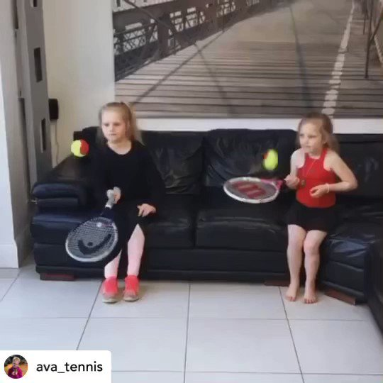 Credit: Ava_Tennis Instagram  Skills!  It's great seeing how fans kept tennis alive during lockdown, and tennis champ @RafaelNadal wants to thank Ava and Ivy personally  #Kia #KiaTennis #GetRafaMoving #RandomActsofKindness https://t.co/UWTQ1aHvyy