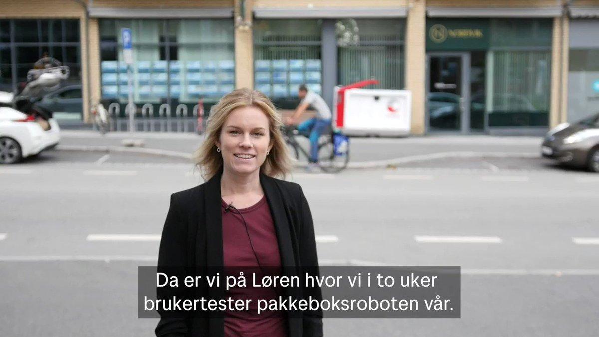 I disse dager tester vi den autonome pakkeboksroboten vår på Løren i Oslo 🤖📦 https://t.co/7dsdNeO4gO