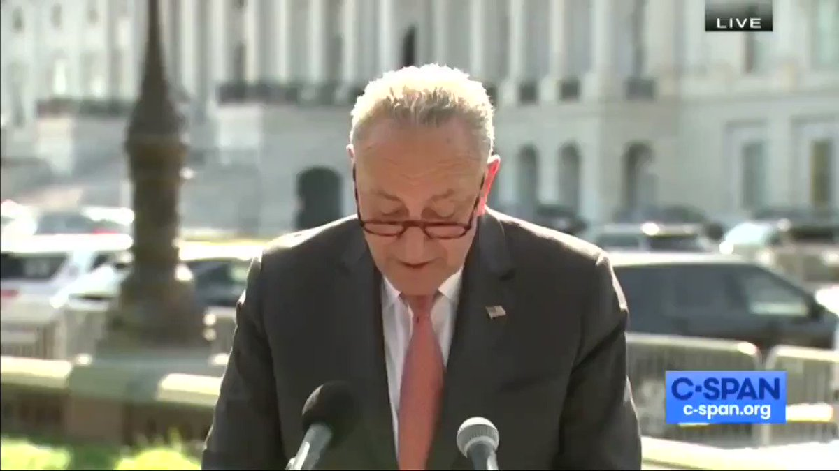 "A heckler yells at Chuck Schumer:  ""You ain't doin' sh*t. Stop lying to the people.""  Another heckler yells ""Jesus saves!"" https://t.co/rM0OU9EZkr"