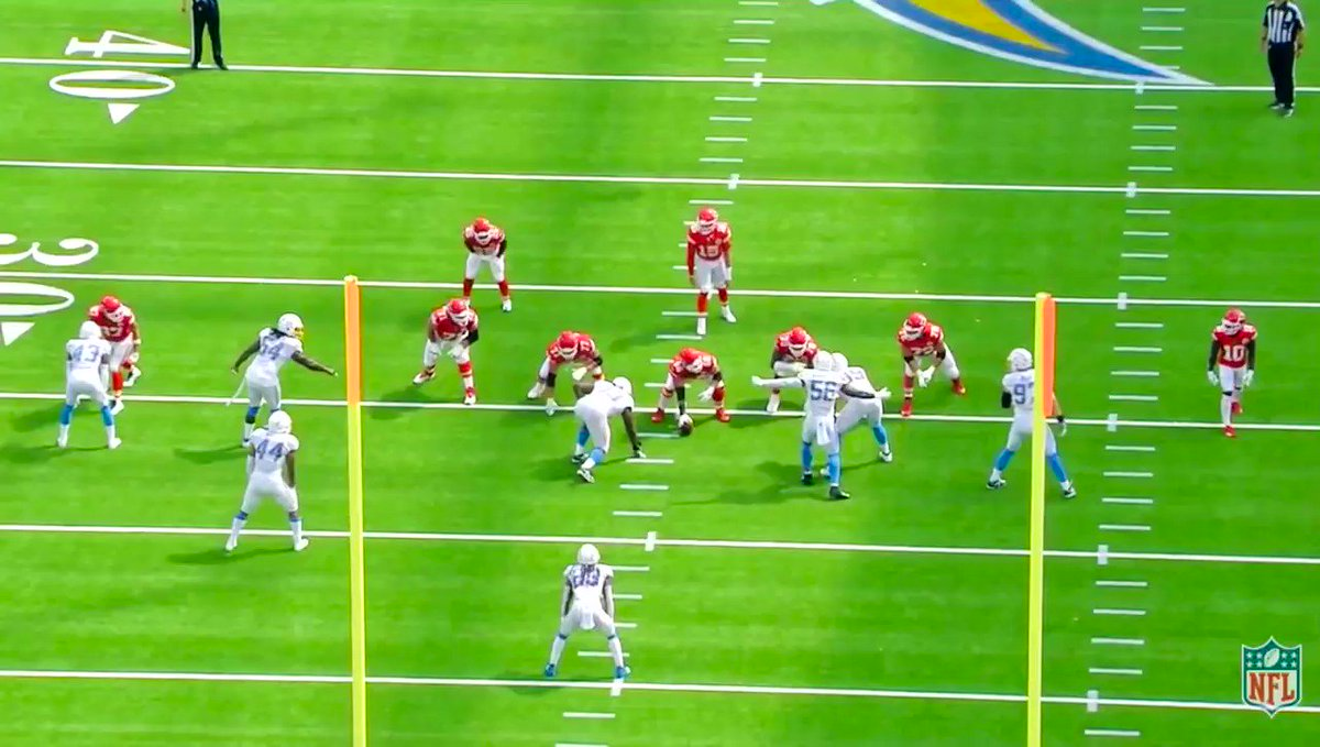Image for the Tweet beginning: Now Ingram gets upfield. Bosa