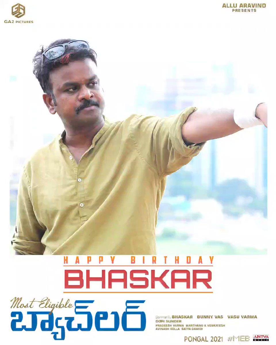 The director who gave us some amazing love stories on big screen! Wishing @baskifilmz garu a very happy birthday!  #HBDBhaskar