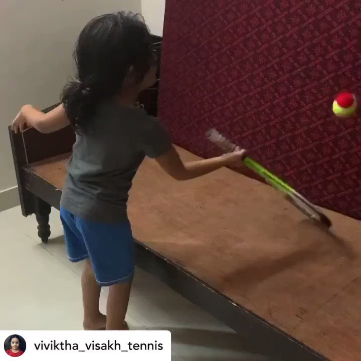 Credit: viviktha_visakh_tennis Instagram  How great is this dedication to practice from Viviktha during lockdown?  @RafaelNadal loves it and wants to share a special gift with you  We love this dedication!  #Kia #KiaTennis #GetRafaMoving #RandomActsofKindness https://t.co/LffvqzPvtW