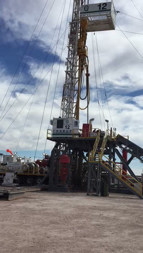 Image for the Tweet beginning: Drilling rig Quintana 12 on