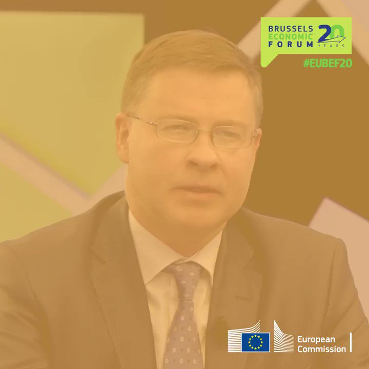 """""""The aim is not to take us back to where we were before the crisis, but to invest in Europe's generations to come.""""   Executive Vice-President @VDombrovskis spoke about the new European economy after the #coronavirus crisis at #EUBEF20.   Watch it here → https://t.co/gESYLBNJcz https://t.co/iQ2jnnXMqk"""