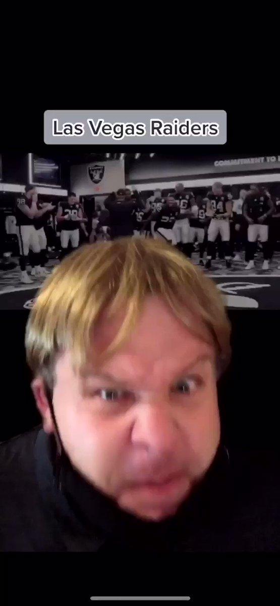 "Jon Gruden ""explains"" the @Raiders post game celebration. #raidernation https://t.co/Djpy0dAiCc"