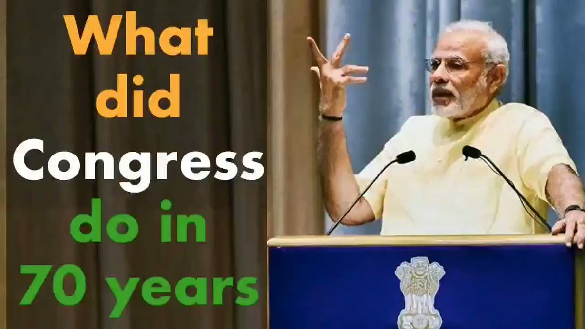 What did Congress Party do in 70 years? Smt. Sushma Swaraj, Former EAM answers this question.