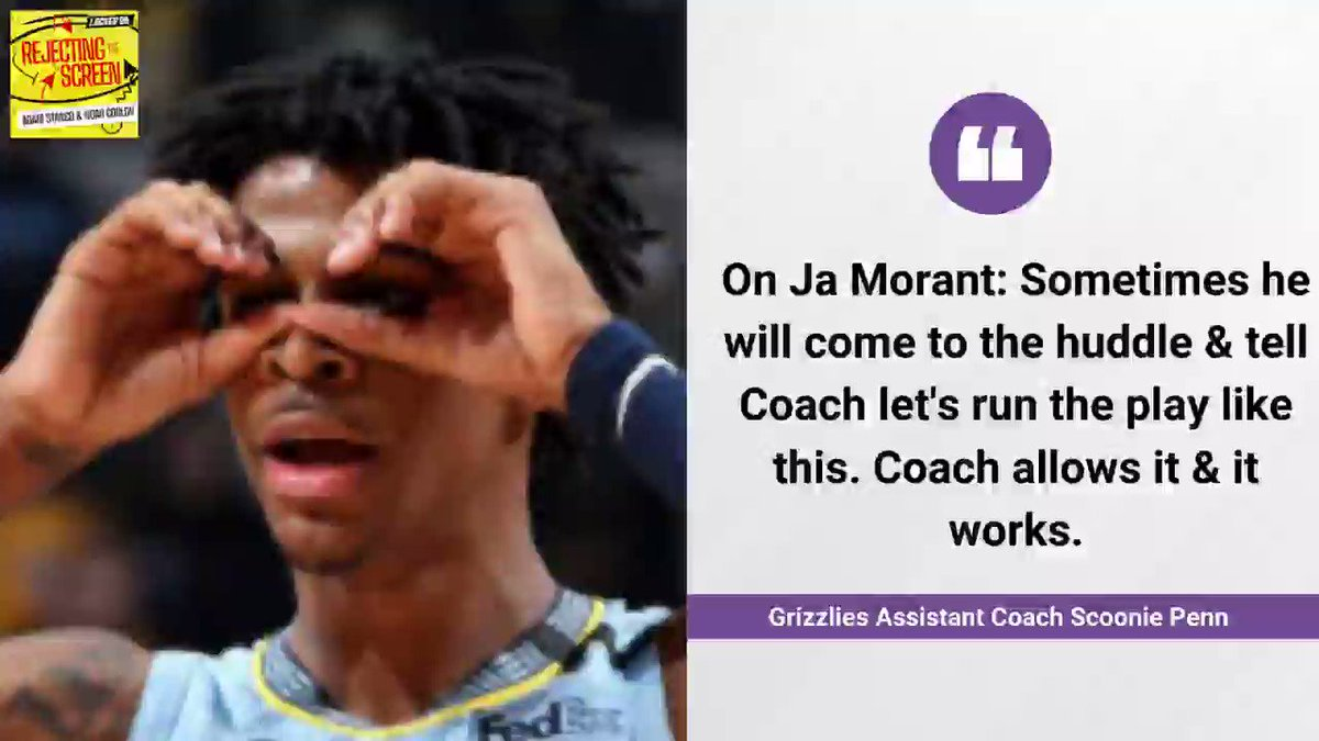 Here's what you don't know about @JaMorant from his assistant coach Scoonie Penn (@Scooniep12)  @NaismithLives & I had a terrific chat with Scoonie on Rejecting the Screen Apple https://t.co/RRvSbv9Fq4 Spotify https://t.co/bPdOSazDzX Everywhere https://t.co/fBtzc5GqCL #Grizzlies https://t.co/lcIX9RSwTx