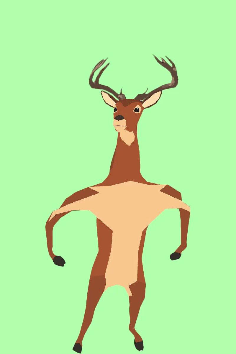 #鹿の中身 できました
