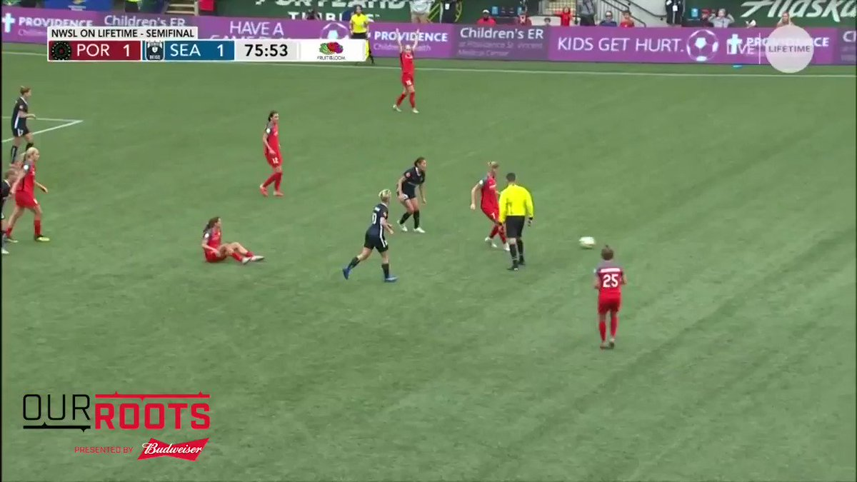 #TBT to this classic @LindseyHoran header to secure a win against Seattle in the 2018 semifinals. Our Roots: presented by @budweiserusa. #BAONPDX