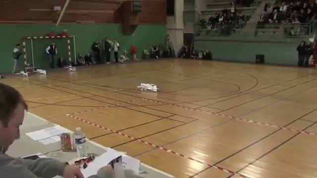 Electric RC plane defying laws of physics with reverse thrust and vectoring.