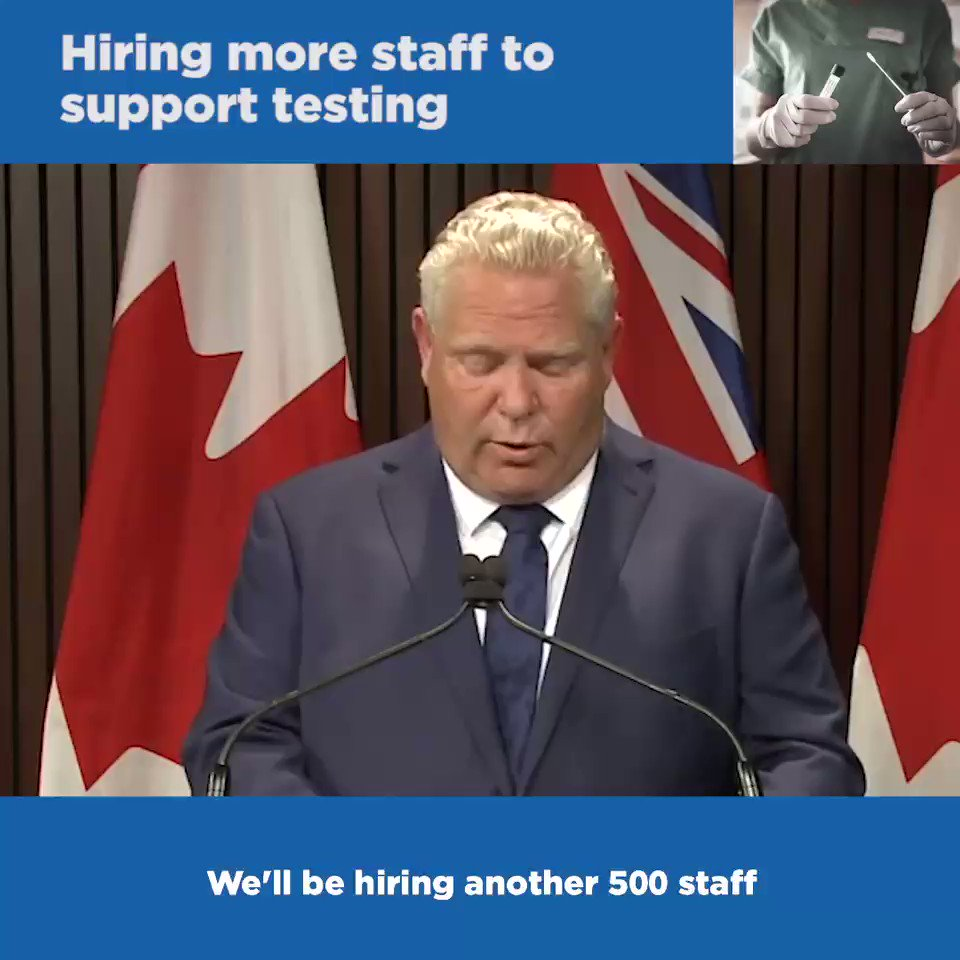 We are sparing no expense to help #StopTheSpread of #COVID19 and to protect the health of Ontarians: ✅$30M to enhance outbreak response ✅$1B for testing ✅$70M for the largest flu vaccine campaign in Canadian history