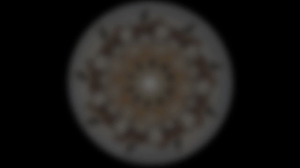 Image for the Tweet beginning: This lovely phenakistoscope was created