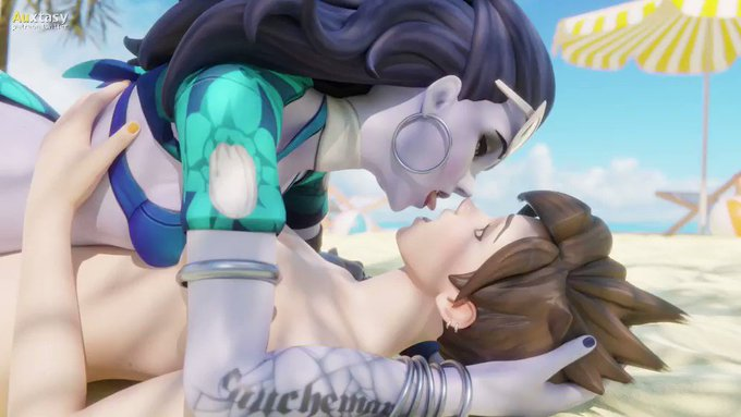 Widowmaker and Tracer making out 2/5[commission]  Best quality available here: https://t.co/y0CYMKQMvP https://t