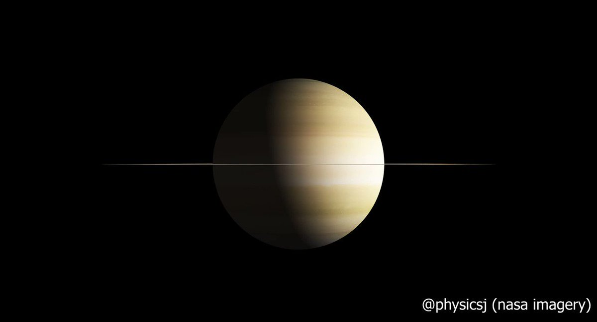 Image for the Tweet beginning: Amazing: The size of Saturn's