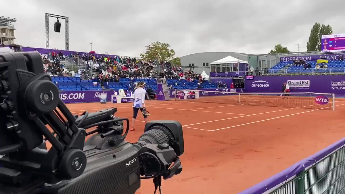 Finally we're working... the final Svitolina v Rybakina #strasbourg #wtatour #tennis https://t.co/swCvShjvjh