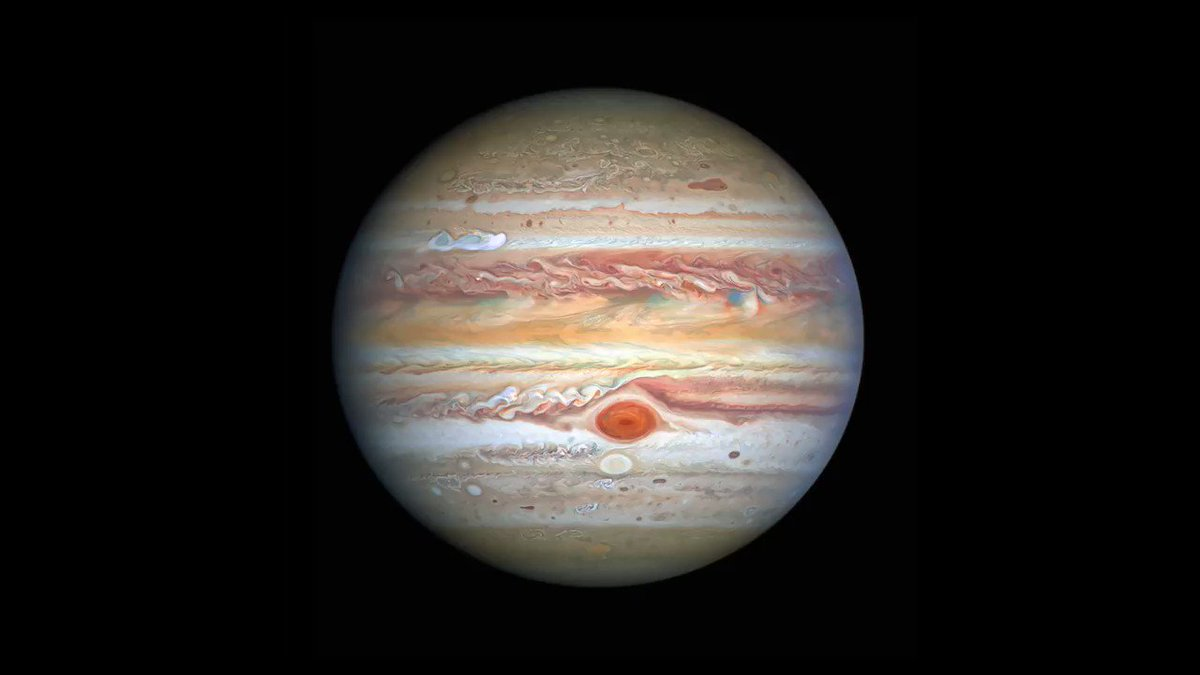 Image for the Tweet beginning: Hubble's New Views of Jupiter  Credit: