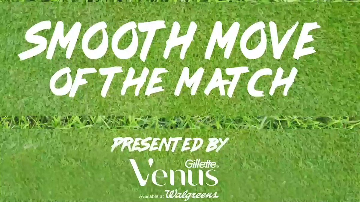 Todays Smooth Move of the Match presented by @Gillette Venus available at @Walgreens is the right-on-target cross from @sarah_luebbe to @smccaskill_21 for the G-O-A-L!