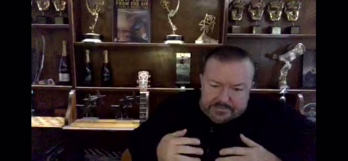 A big thank you to @rickygervais for all the kindness he has shown his fans, all around the world this year.   I think we can all agree these lockdowns would have been more difficult without his Live streams to enjoy!   #ThankyouSirRicky #rickysbollocks