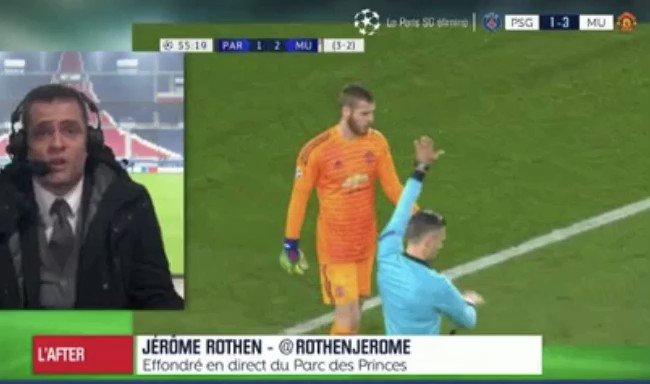 🚨 06/03/2019   L'énorme coup de gueule de @RothenJerome sur le PSG après la débâcle face à Manchester United   Et le fameux « caca culotte» !  ➡️Follow pour d'autres extraits historiques de l'After foot !  #TeamPSG #football https://t.co/7ky8pR05Vk