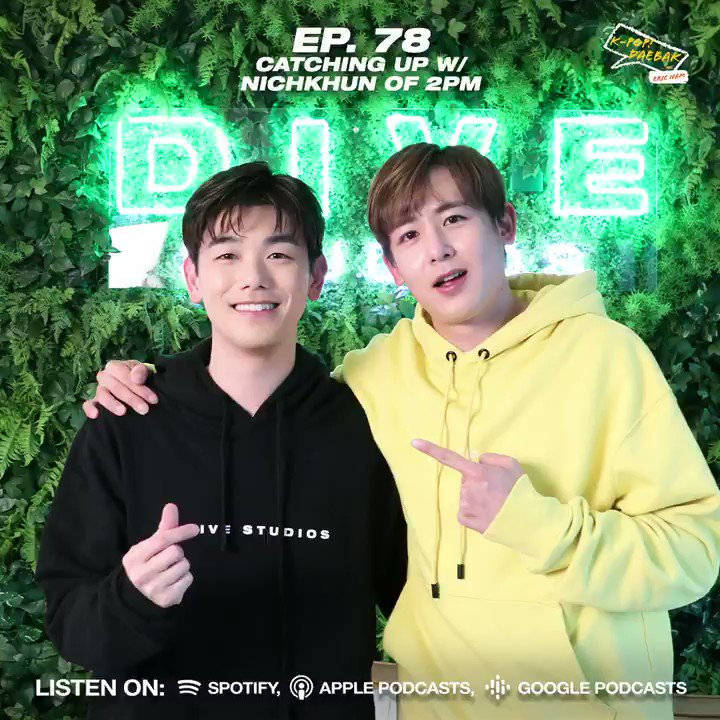 """K-Pop Daebak w/ Eric Nam on Twitter: """"Can you feel his heartbeat? 👀 Let's welcome #NICHKHUN from #2PM onto the show! 😍👏 🎧 @Khunnie0624 from @follow_2PM catches up with @ericnamofficial on Ep. #"""