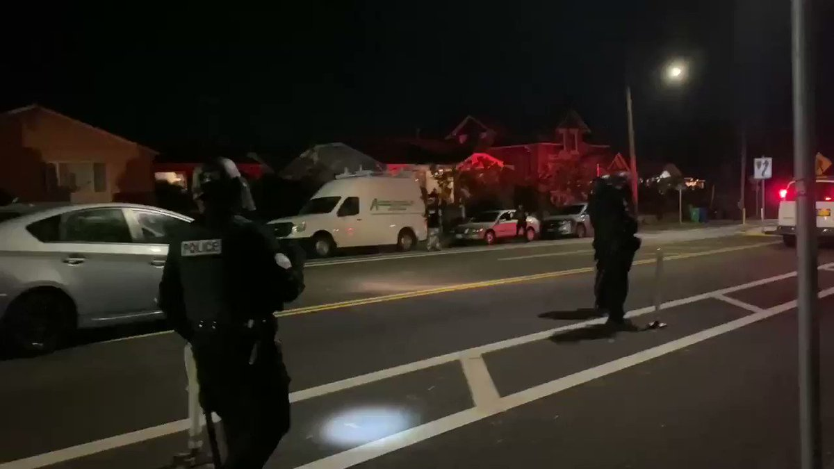 "A homeowner asks a Portland police officer how do these protest end  Police officer responds ""if people liked our trump government a lot more, we probably wouldn't have this issue in the first place"""