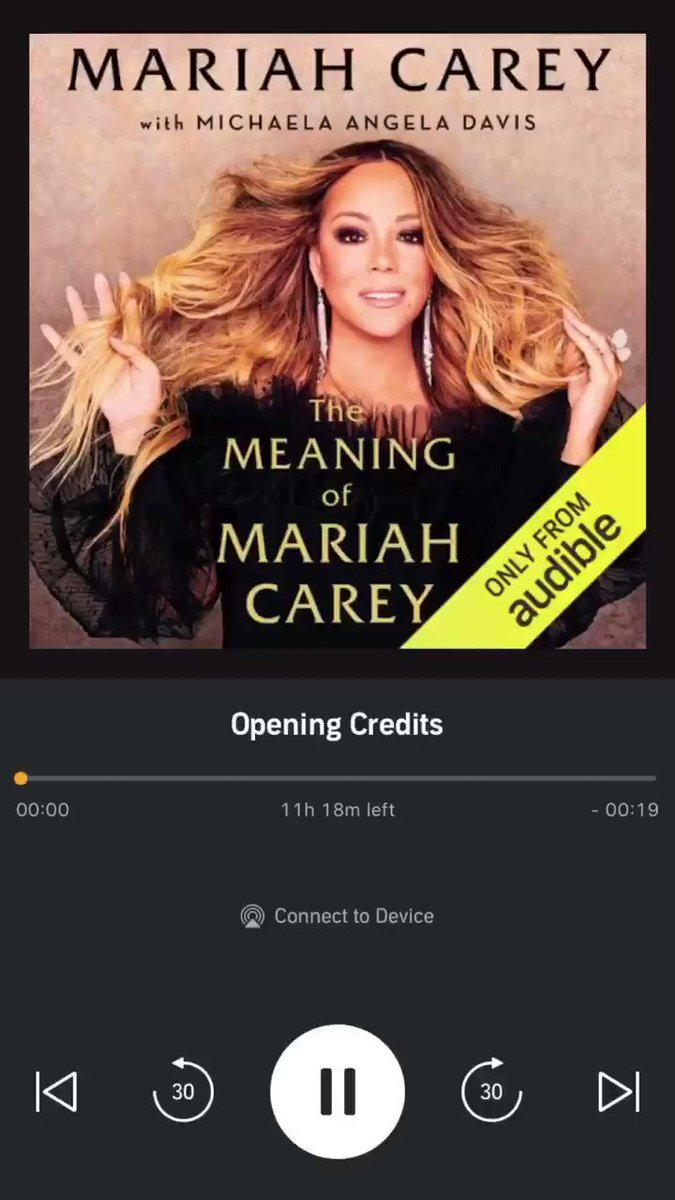 """I refuse to acknowledge time..."" #TheMeaningOfMariahCarey x @audible_com  https://t.co/XeWBTIirwz https://t.co/22B4x8uz6u"