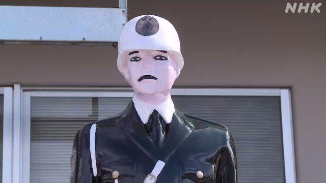 およそ10年前、台風のあと行方不明になっていた沖縄県宮古島の交通安全を呼びかける警察官の人形「宮古島まもる君」1体が、職場復帰を果たしました。3年前に市内の畑で見つかり、その後修繕されて職場復帰することになり、まもる君にふんした警察官が決意を述べました。